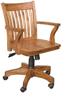 This Slatback Arm Chair Compliments Any Rustic Oak Desk In