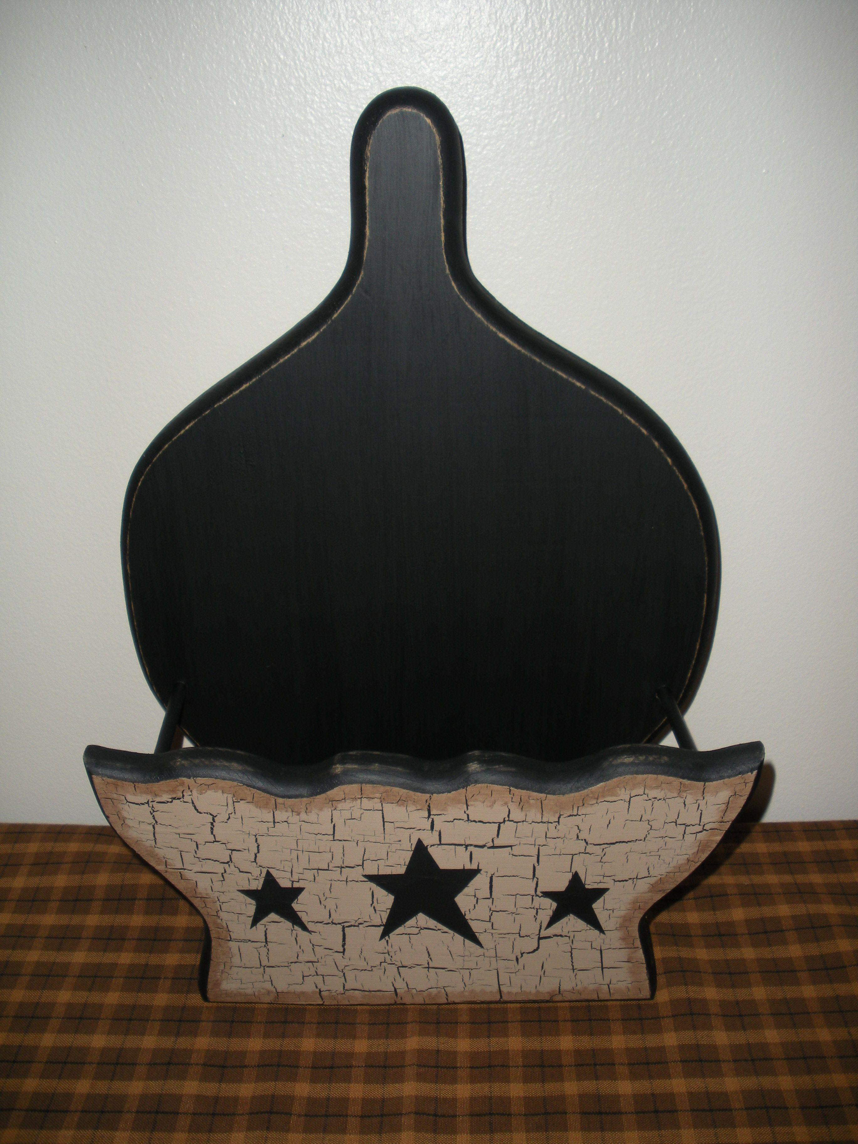 Primitive Decor Paper Plate Holder http://www.ebay.com/sch ...