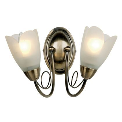 Tulip Wall Light Antique Brass At Homebase Be Inspired And Make Your House A Home Buy Now Wall Lights Antique Brass Wall Lights Light
