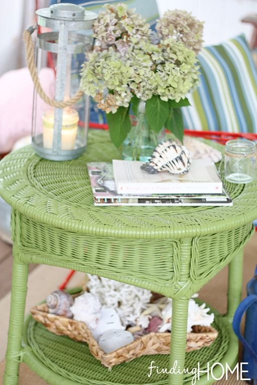 Spray Paint Furniture To Add Color Painted Wicker