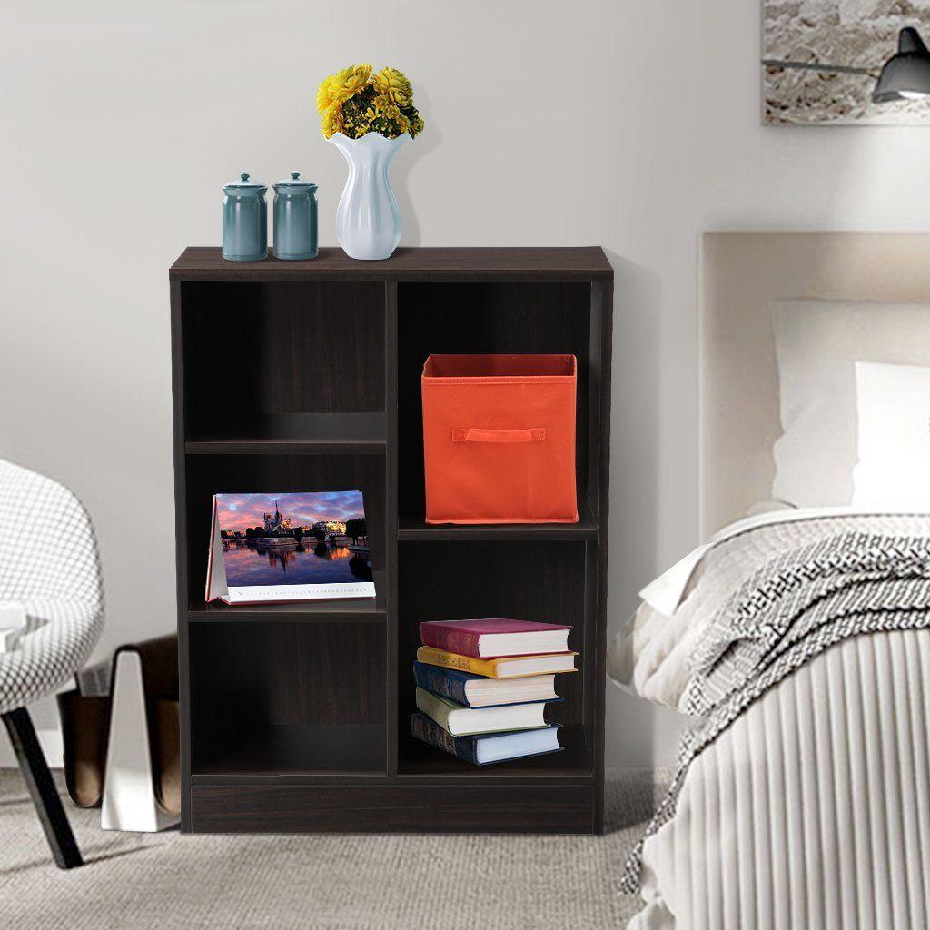 amazoncom langria 5 shelf cube bookcase bookshelf with 5 minimalist classic