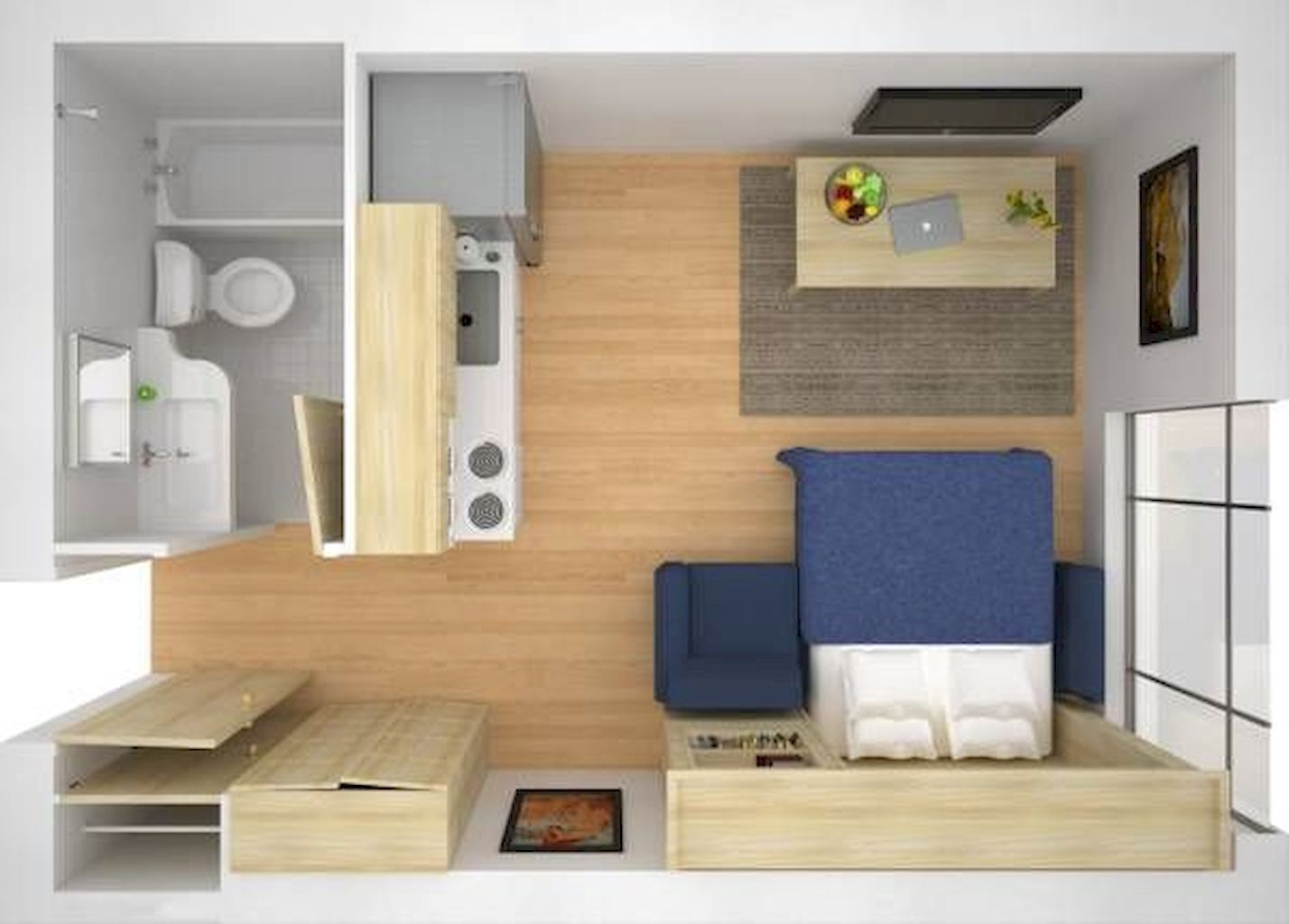 100 Small Studio Apartment Layout Design Ideas Home Design Disenos De Apartamentos Diseno Casas Pequenas Planos De Apartamentos Pequenos