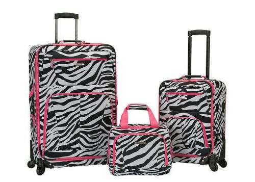 Rockland Luggage Set 3PC Spinners Softcase Expandable 28