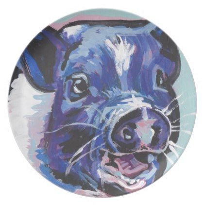 sc 1 st  Pinterest & FUN Mini Pig Farm pet pop art painting Dinner Plate