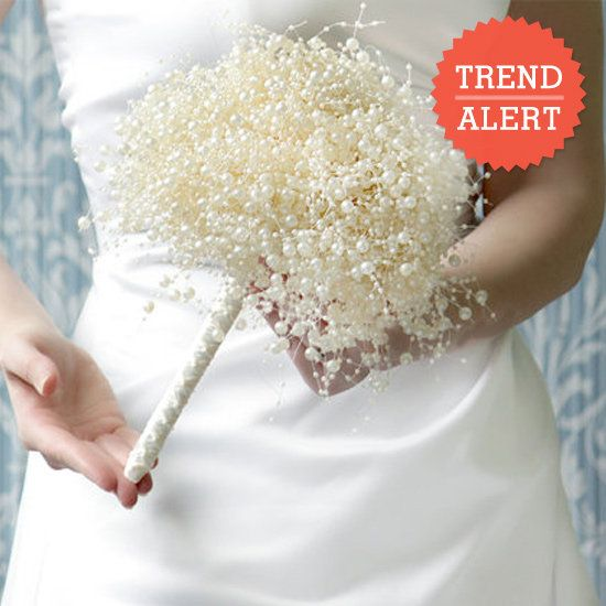 Alternative Wedding Bouquet From Pearls But Sort Of Looks Like Snow We Love This