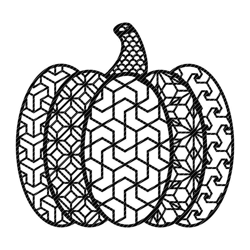 Zen pumpkin zentangle fancy fall autumn halloween mandala