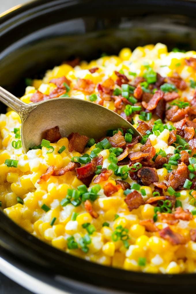 Slow Cooker Creamed Corn - Dinner at the Zoo