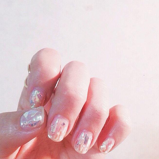 Glass Nail Art Is the Latest Korean Beauty Craze You Need to Try #koreannailart
