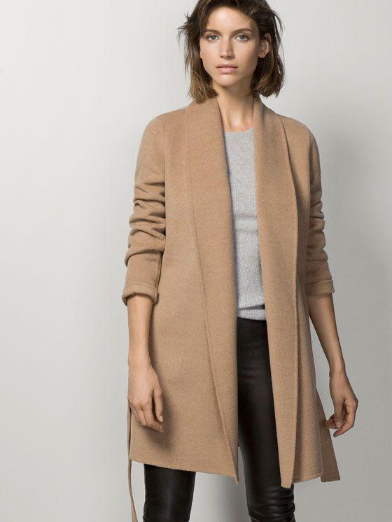 manteau ceinture v tements et accessoires pinterest manteau mode minimaliste et fashion mode. Black Bedroom Furniture Sets. Home Design Ideas