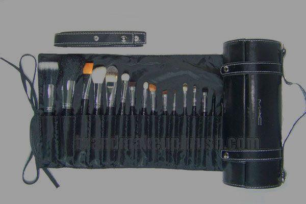MAC 16 Brush set, New Pouch, Professional Brush