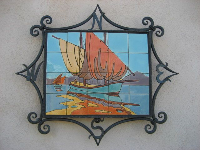 Gmb Tile Mural In Our Compass Iron Frame Tile Murals Mural