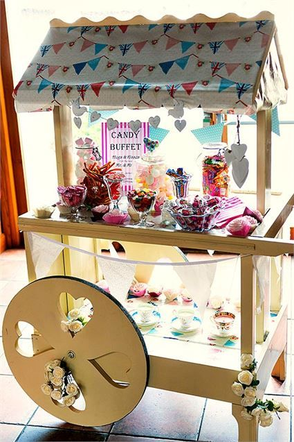 Candy Cart, The Hundred House Hotel and Tithe Barn - Inspiration Gallery Wedding Venue Image
