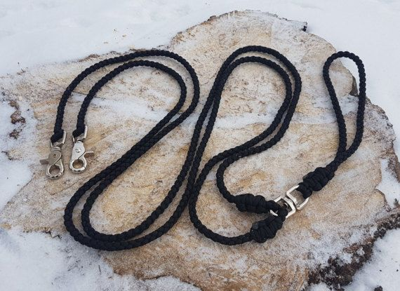 Dual paracord leash 4 strand dog leash splitter with double
