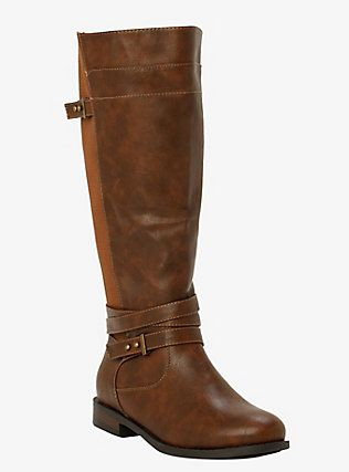 Multi Strap Gore Tall Boots (Wide Width), MOREL Size 8