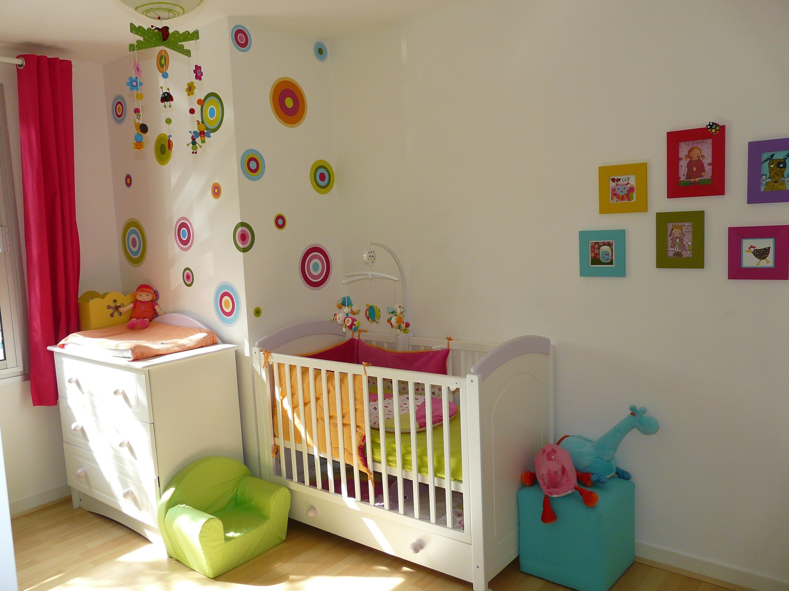 touches de couleurs avec les cercles et les cadres sur un mur ...
