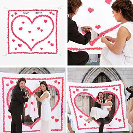 Hochzeitsherz Zum Ausschneiden Fur Das Brautpaar Komplettset Portofrei Laken Zum Ausschneiden Mit Herzmotiv Hochzeit Spiele Hochzeit Brauche Hochzeitsspiele