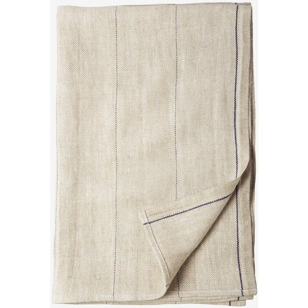 Table Runner With A Woven Navy Stripe In A Pure, Heavy Linen Twill. Woven  By A Traditional Lithuanian Mill.