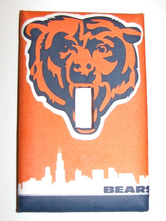 Light Switch Cover   Light Switch Plate Chicago Bears Football