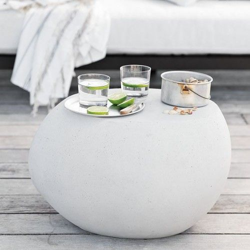 Pebble Outdoor Coffee Table Modern Garden Furniture Side Table