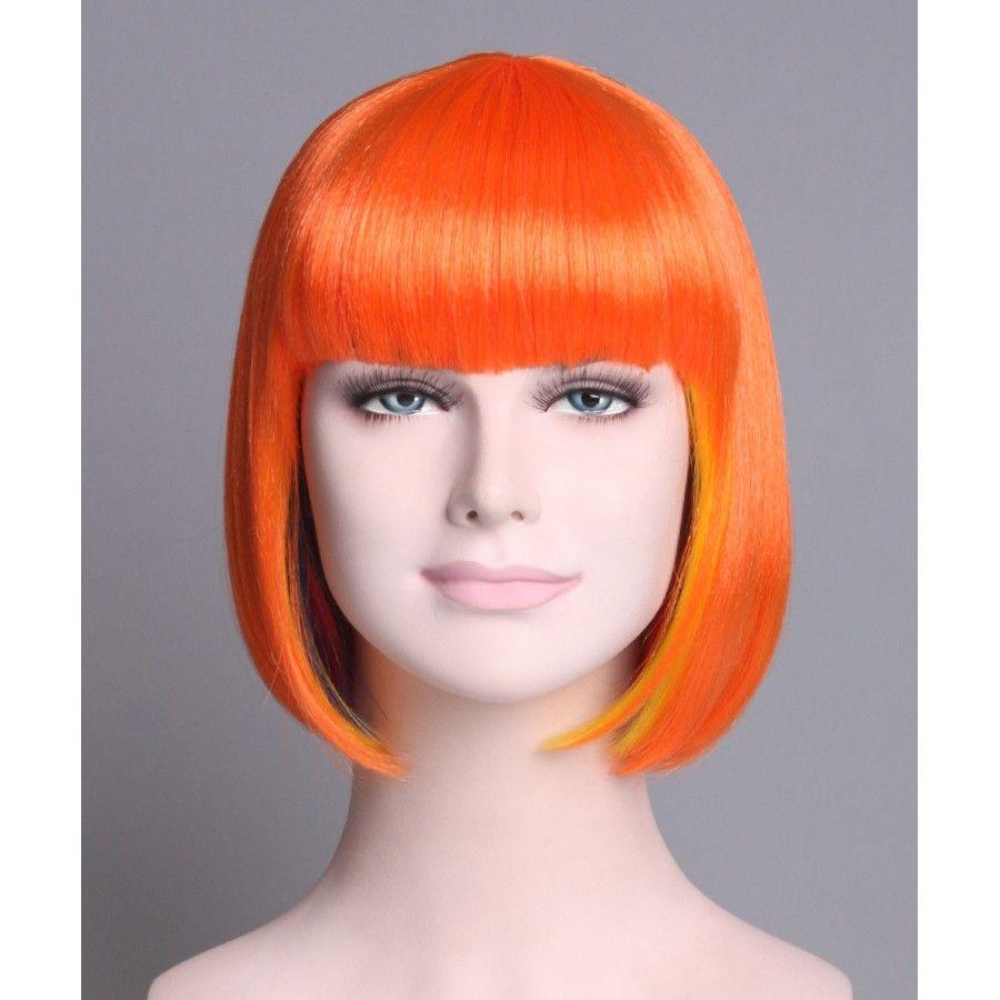 Super model bob rainbow ptb short party bob wigs