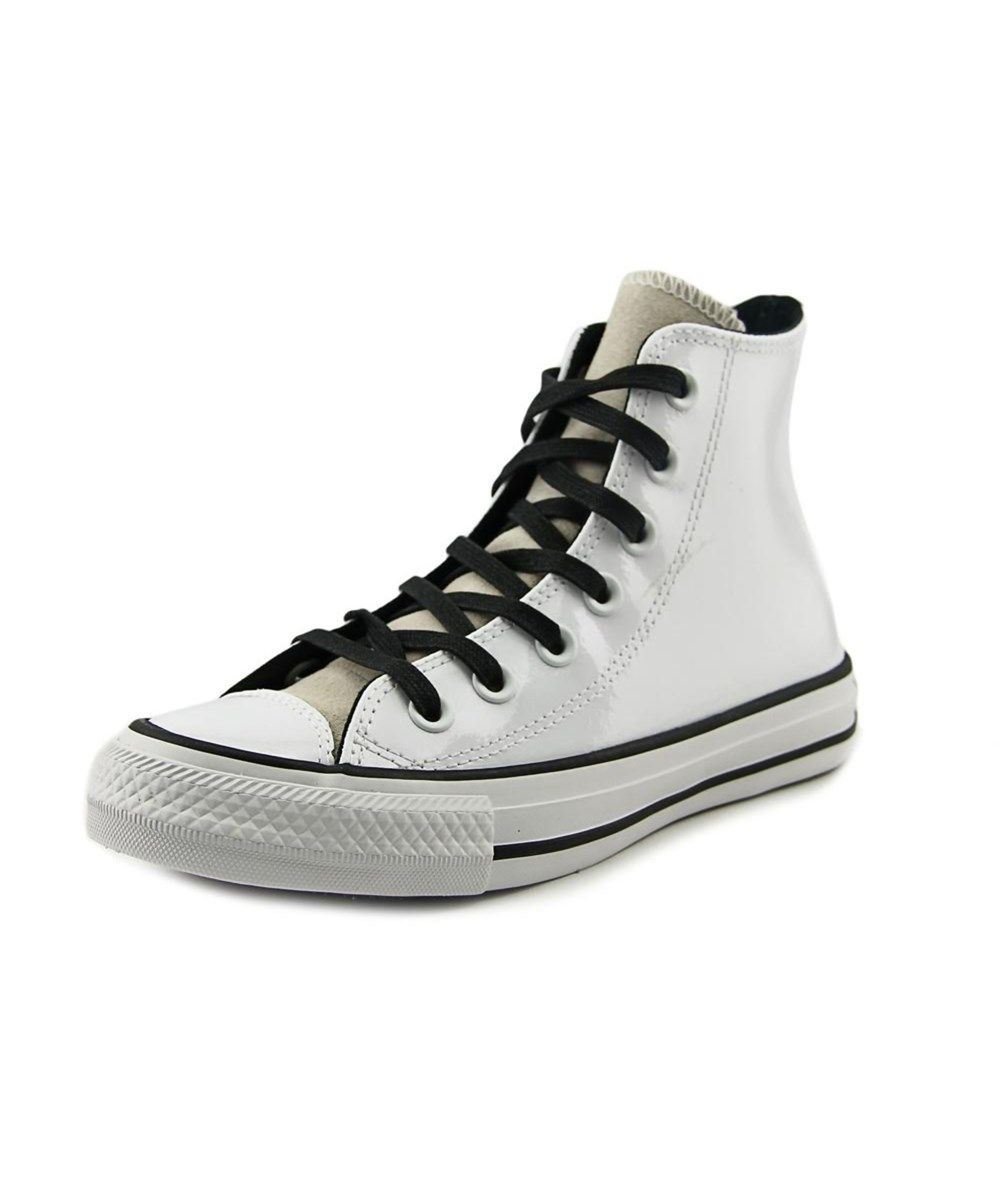 Converse Chuck Taylor All Star Leather Hi Women Round Toe White Sneakers Weisse Turnschuhe Converse Chuck Taylor Weisse Lederschuhe