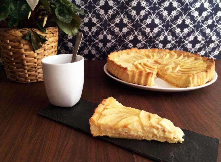 Tarta De Manzana Con Crema Pastelera Receta Receta Tarta De Manzana Recetas De Reposteria Casera Crema Pastelera