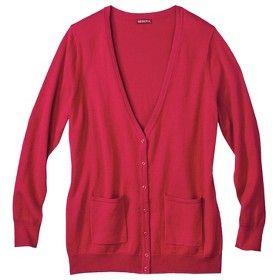 Merona® Women's Plus-Size Cashmere Blend Cardigan Sweater w/Pockets - Assorted Colors