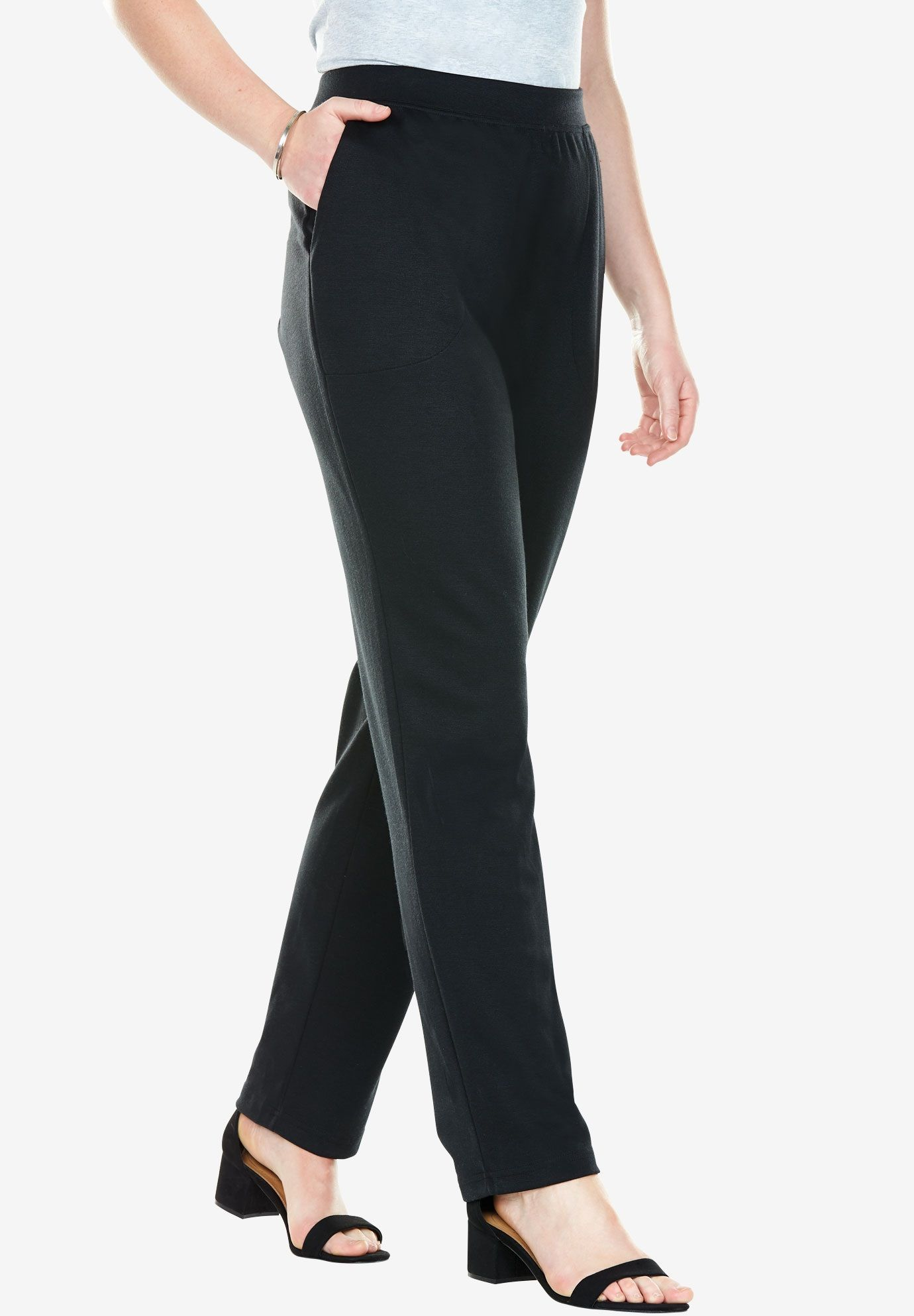 Straight leg Ponte pant - Women s Plus Size Clothing  90ac4a27bb3
