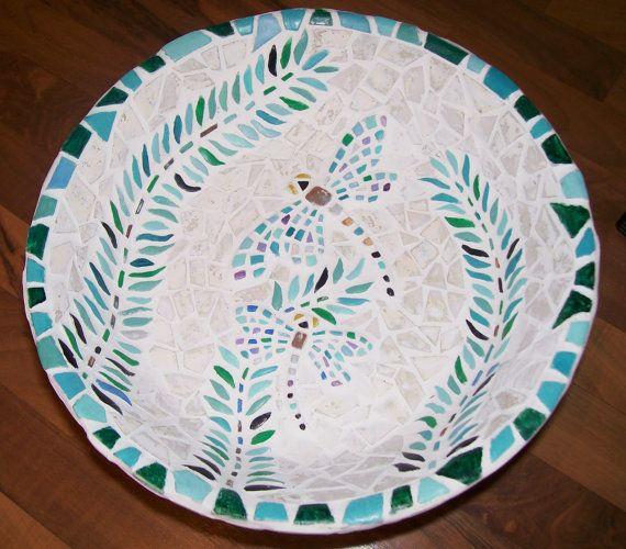 Dragonfly Mosiac Ceramic