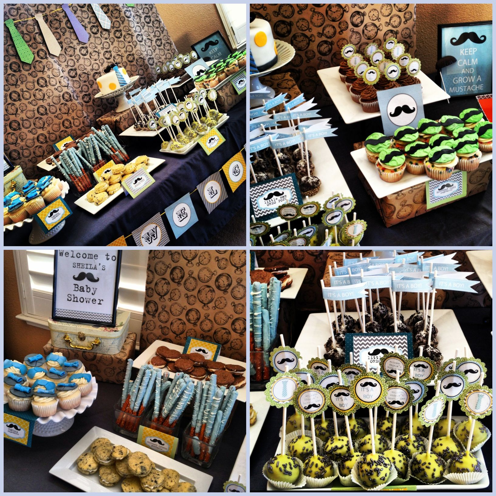 Little Man Mustache Dessert Table