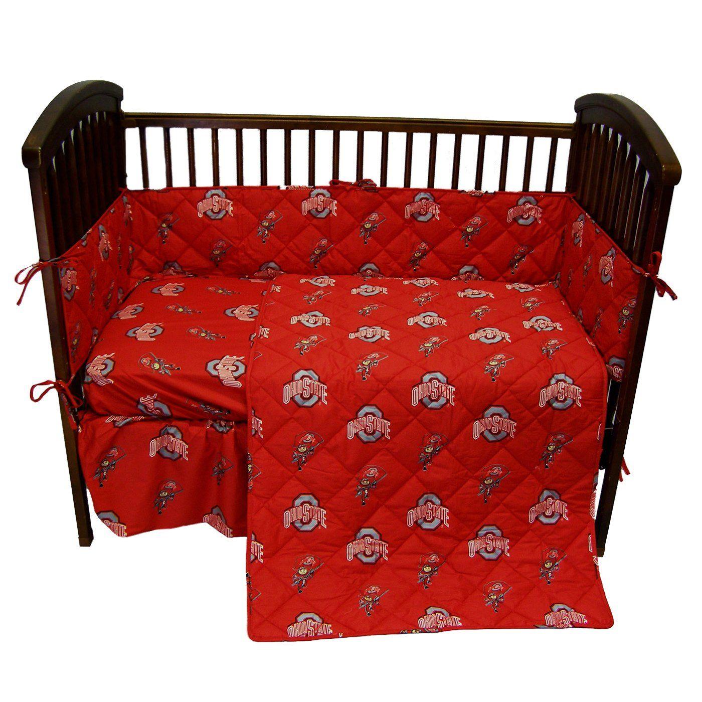 College Covers Ohics Ohio State Buckeyes Crib Bedding Set 5 Pieces Baby Crib Sets Baby Crib Bedding Sets Buckeye Baby