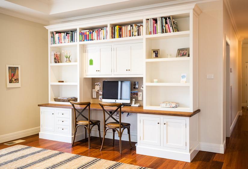 Study Built In Desk Home Office Design Built In Desk Home Office Decor