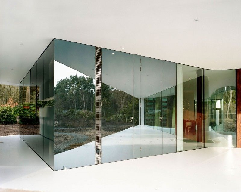 Modern Glass Wall Design At The Villa 1 Reflected The Outdoor View Into  Inside By The