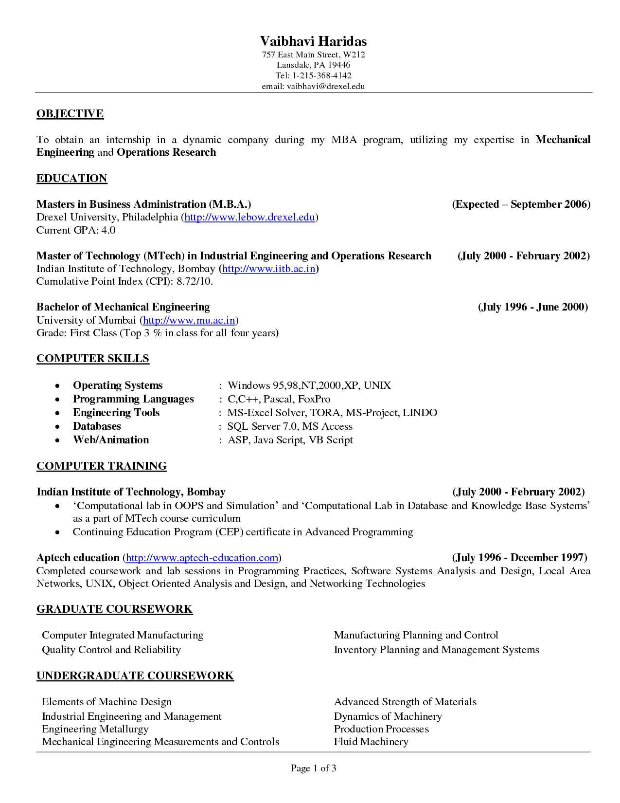 Resume Objective Example Best TemplateResume Objective Examples