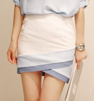 This skirt cut in a super cool asymmetric silhouette, simply style it with blouse and heels for work or evening date
