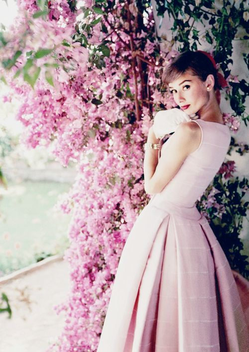Audrey hepburn pink flowers gardening flower and vegetables audrey hepburn photographed outside rome by norman parkinson mightylinksfo Choice Image