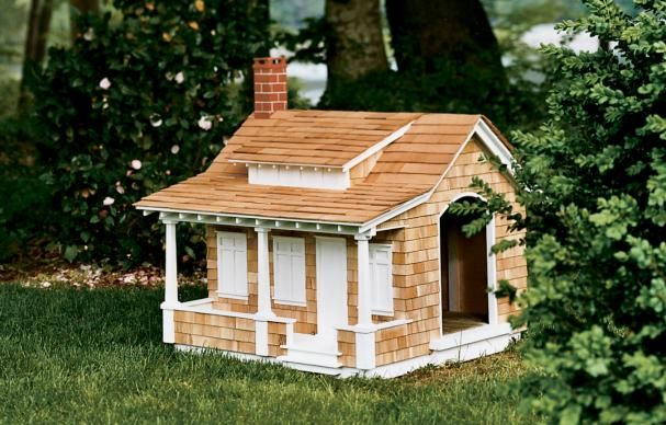 Best A Craftsman Style Doghouse Shingle Siding Dog Houses 400 x 300
