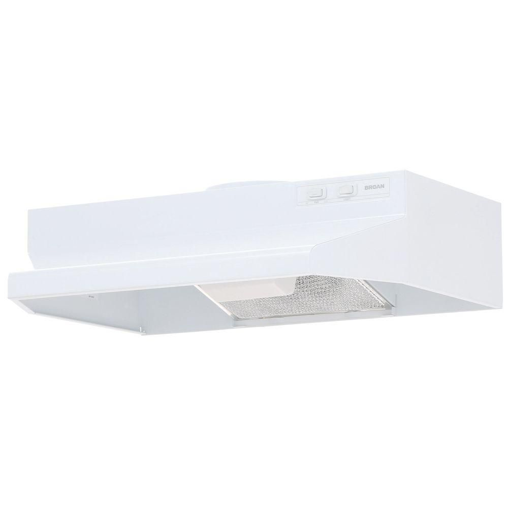 Broan Nutone 42000 Series 24 In Under Cabinet Range Hood With Light In White 422401 The Home Depot Broan Under Cabinet Range Hoods Range Hood