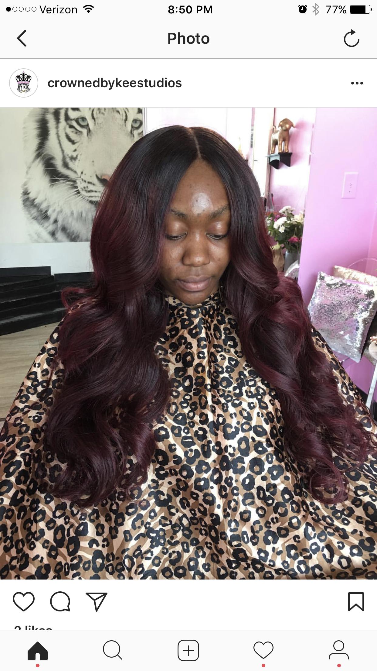 17 Trendiest Weave Hairstyles Burgundy Ombre Color To Try This Season Dark Burgundy Hair Burgundy Hair Weave Hairstyles