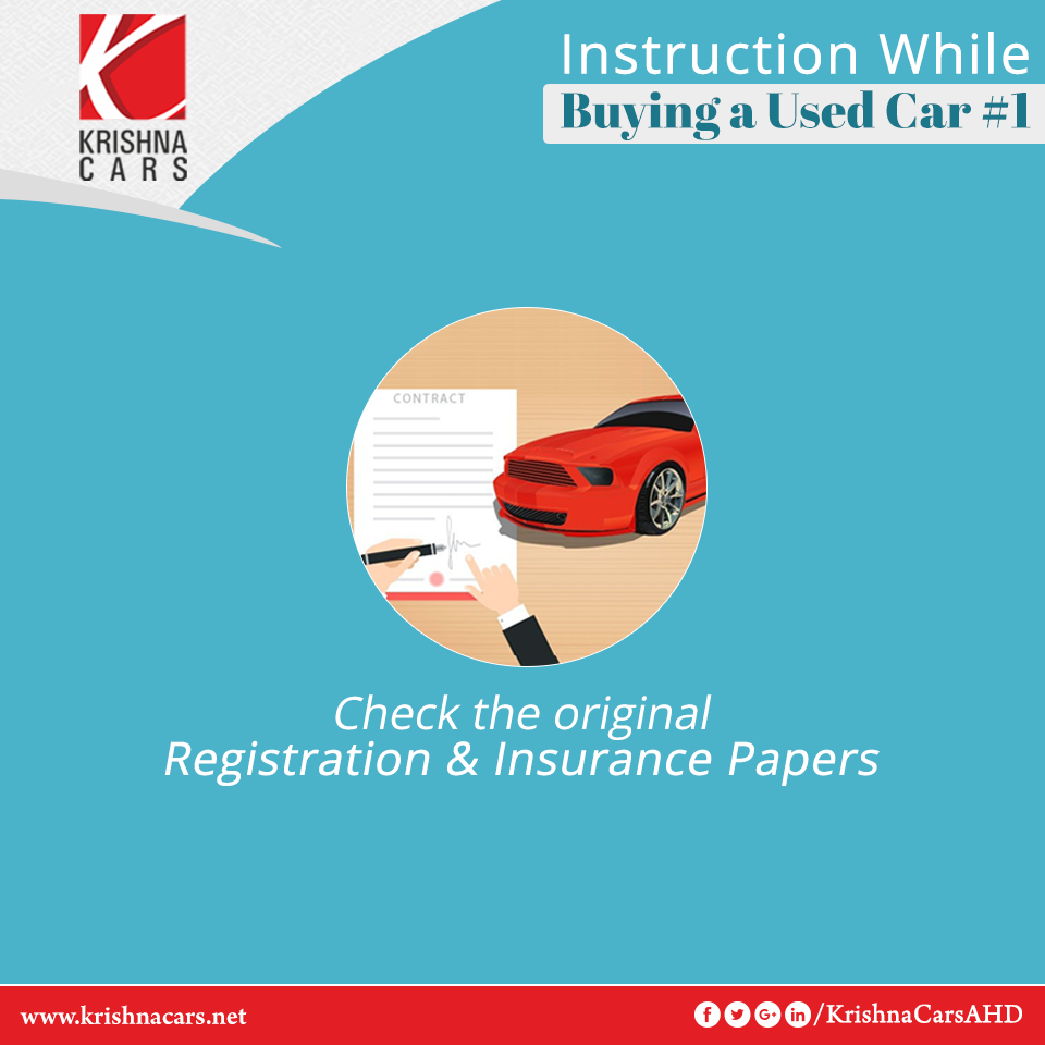 Instruction while buying a used car ?