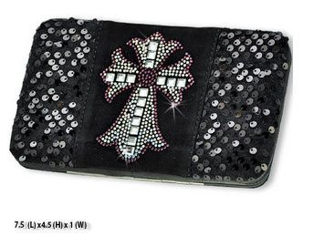 Western Purple Cross Design Black Wallet #country #cowgirl #accessories #fashion #popular #womens #style #trendy #purse #bling #hunting #3d #boutique #buckle #western #religious