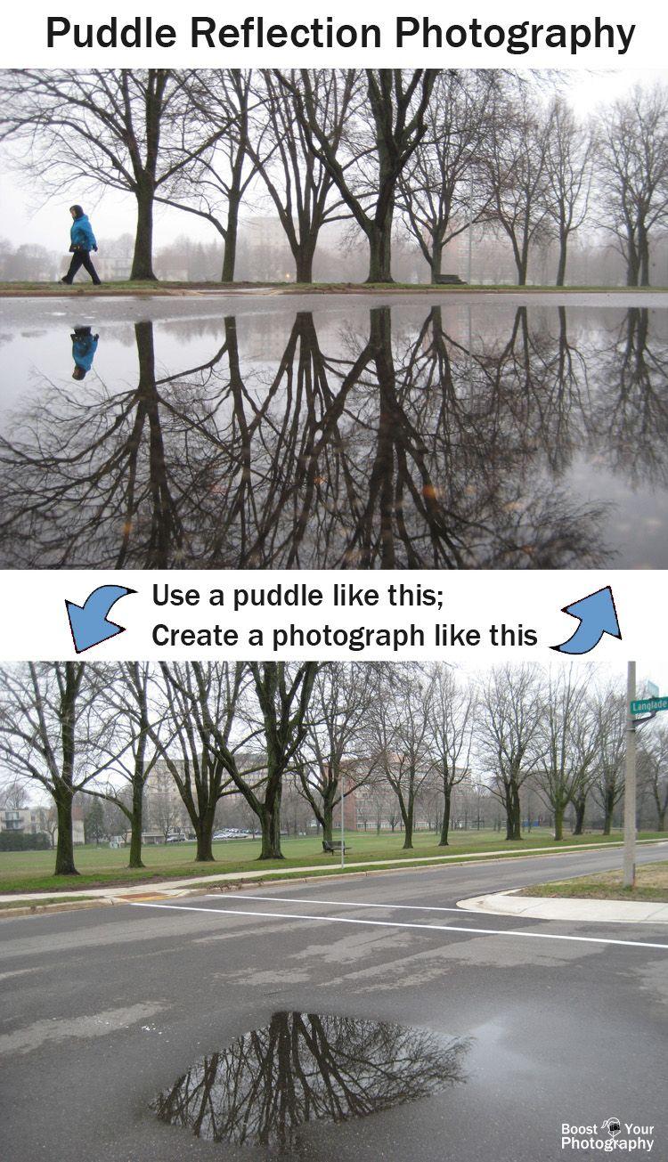 Puddle Reflection Photography
