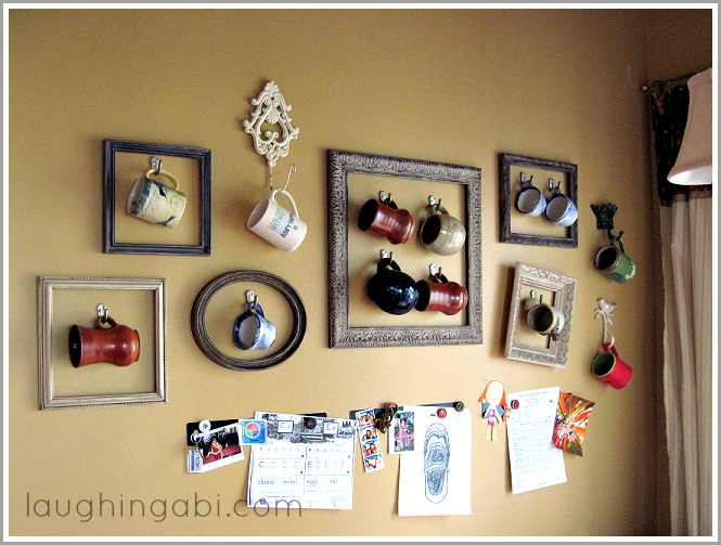 Coffee Cup Gallery Wall Displaying Collections