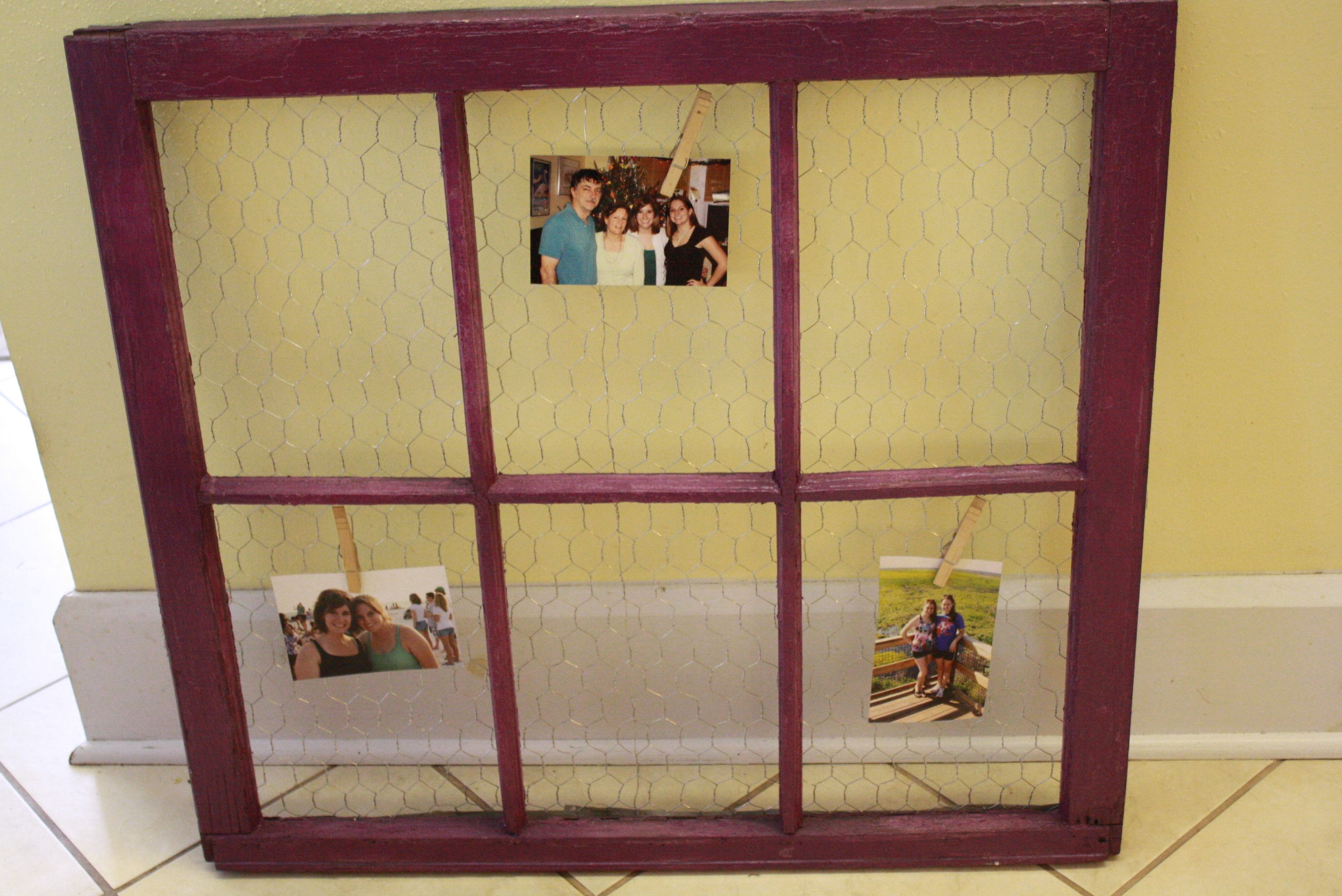 old window chicken wire = amazing, definitely try it out @Kate ...