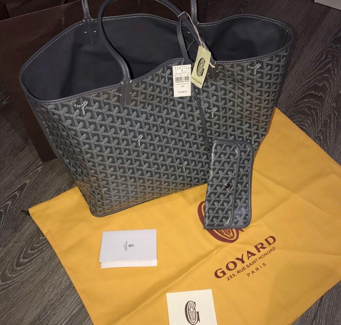 Brand New Goyard St. Louis Gm Grey Tote (Reversible) 9127d836483f8