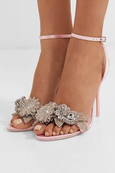 Lilico Crystal-embellished Satin Sandals - Baby pink Sophia Webster xYjEr9Sh