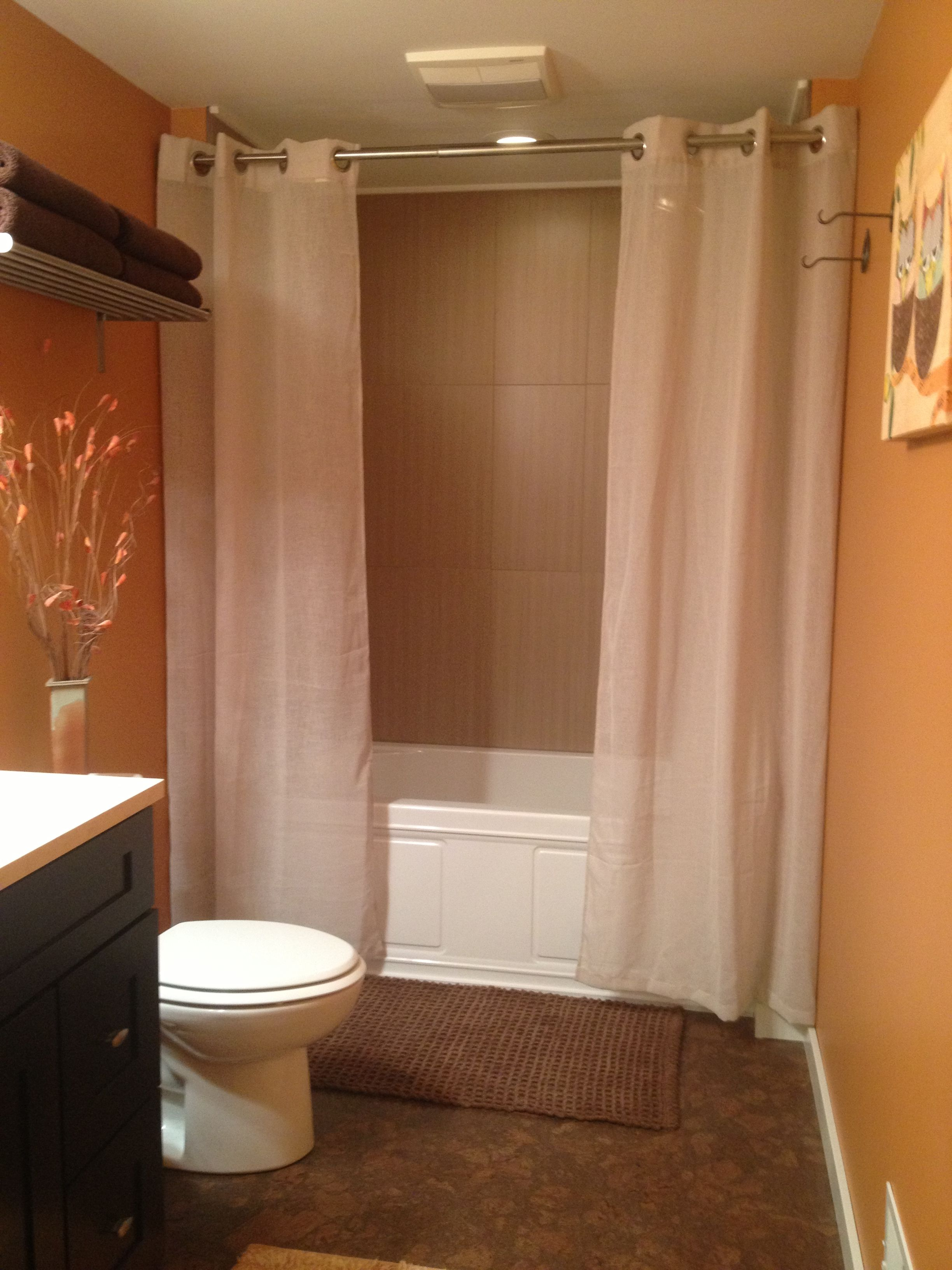 single curved stalls stall beautiful shower rod curtains of bathroom once for curtain fabric