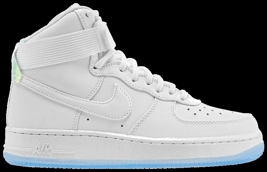 Wmns Air Force 1 High Premium White Ice Blue Nike 654440 105 Goat Blue High Tops Sneakers Nike Air Force High