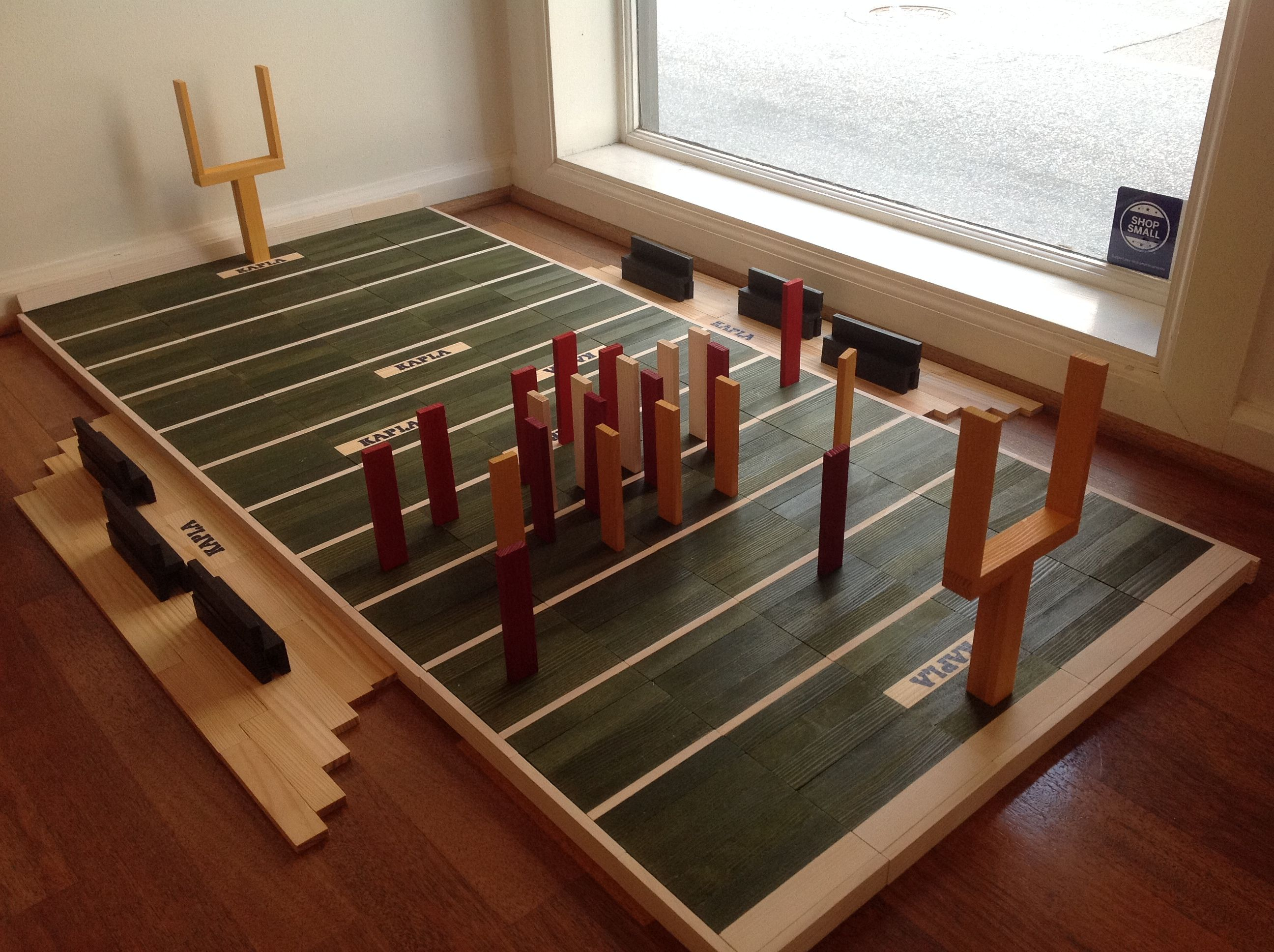 Welcome to KAPLA Football!  #blocks #football #gifts #parents #school #holidays