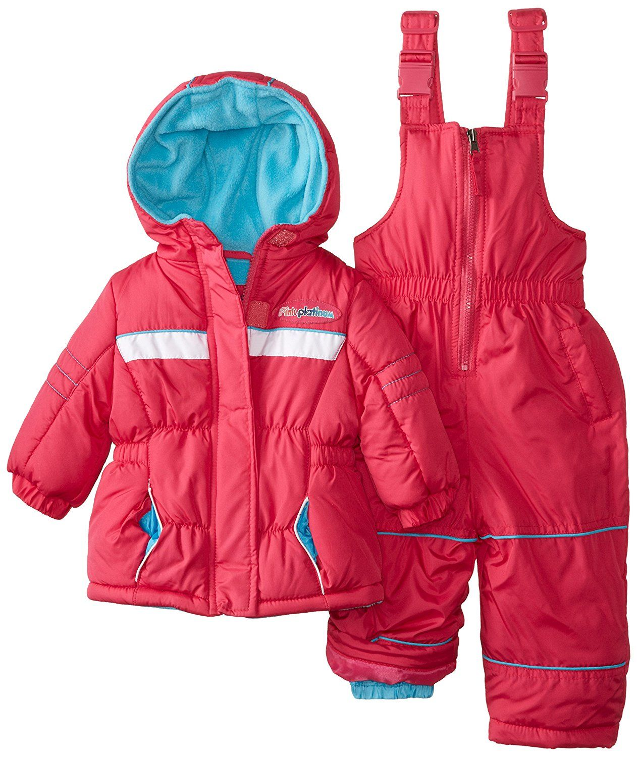 1474f5dd2044 Pink Platinum Baby Girls  Athletic Snowsuit Set     Find out more ...